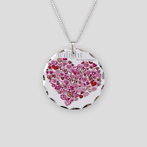 Twilight Heart Necklace Circle Charm