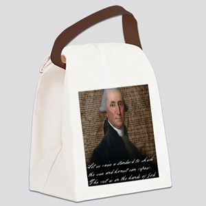 Washinton 9X12 Small Print Canvas Lunch Bag