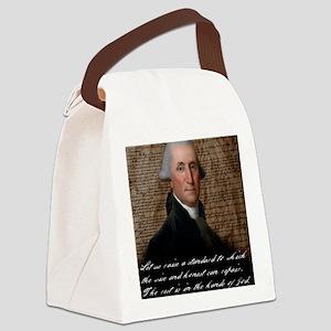 Washinton 9X12 Small Print Canvas Lunch Bag
