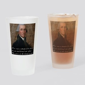 Washinton 9X12 Small Print Drinking Glass
