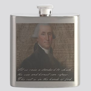 Washinton 9X12 Small Print Flask
