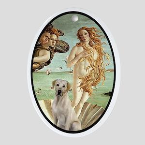 Ov-Venus-Yellow Lab 7 Oval Ornament