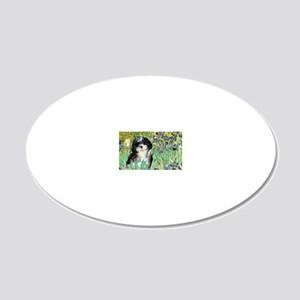 Irises - Shih Tzu 12 20x12 Oval Wall Decal