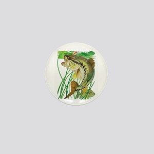 Largemouth Bass with Lily Pads copy Mini Button