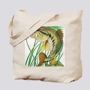 Largemouth Bass with Lily Pads copy Tote Bag