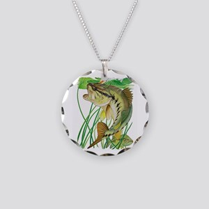 Largemouth Bass with Lily Pa Necklace Circle Charm