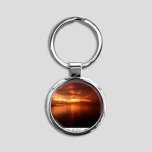 Montego Bay Sunset Round Keychain