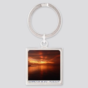 Montego Bay Sunset Square Keychain