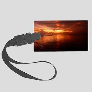 Montego Bay Sunset Large Luggage Tag