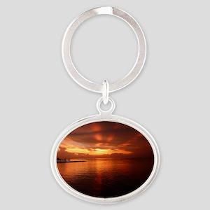 Montego Bay Sunset Oval Keychain