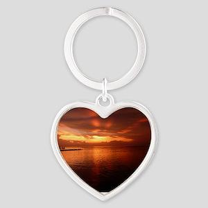 Montego Bay Sunset Heart Keychain