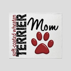 D Soft-Coated Wheaten Terrier Mom 2 Throw Blanket