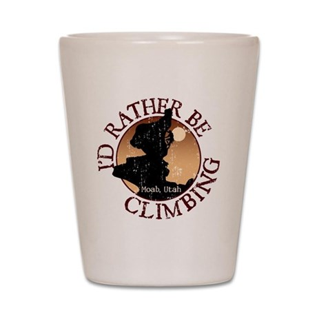 Id Rather Be Climbing Shot Glass