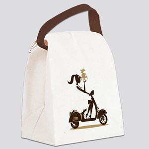 Sophisticated Coffee Drinker (no  Canvas Lunch Bag