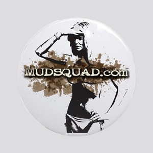 Muddy Bikini Round Ornament