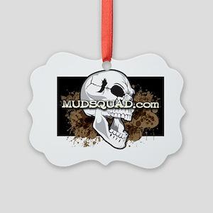 Muddy Skull Picture Ornament
