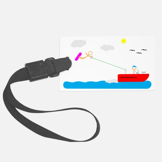 Wakeboarder Light Luggage Tag