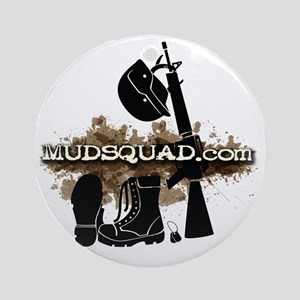 Military Gear Round Ornament