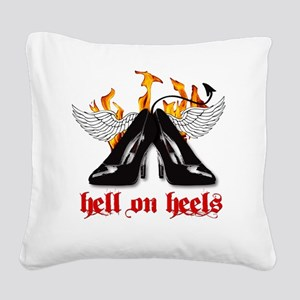 hell on heels Square Canvas Pillow