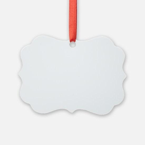 White 26.2 marathon Ornament