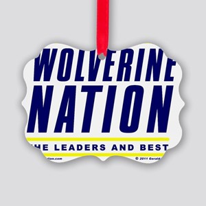 WolverineNationStackLeadersBlueYe Picture Ornament