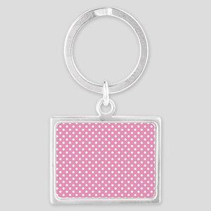 pinkpolkadotlaptopskin Landscape Keychain