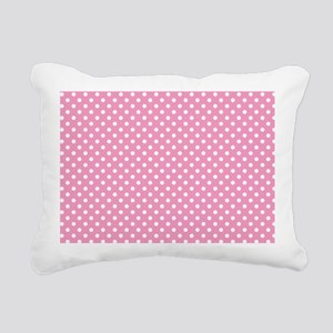 pinkpolkadotlaptopskin Rectangular Canvas Pillow