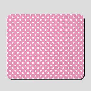 pinkpolkadotlaptopskin Mousepad