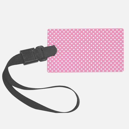 pinkpolkadotlaptopskin Luggage Tag