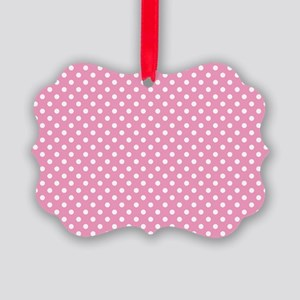 pinkpolkadotlaptopskin Picture Ornament
