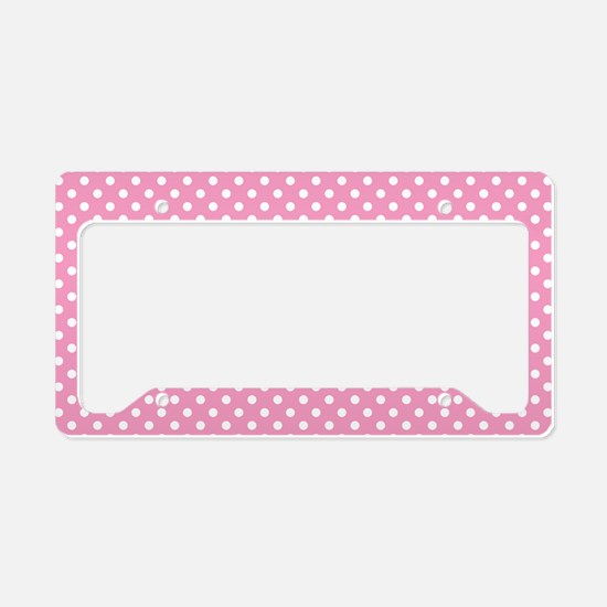 pinkpolkadotlaptopskin License Plate Holder