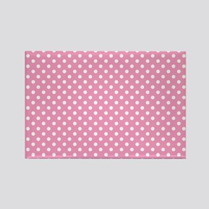 pinkpolkadotlaptopskin Rectangle Magnet