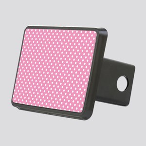 pinkpolkadotlaptopskin Rectangular Hitch Cover