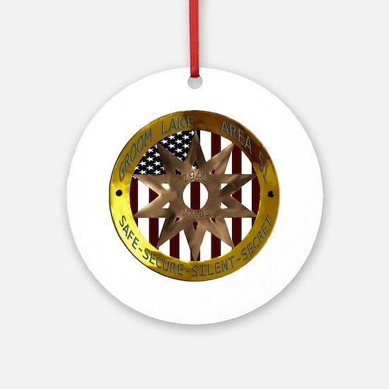 Area 51 SSSS Badge Round Ornament