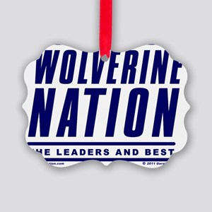 WolverineNationStackLeadersBlue Picture Ornament