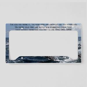 UnDefine Your Mind License Plate Holder