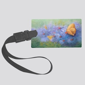 purple Butterflies (2) copy copy Large Luggage Tag