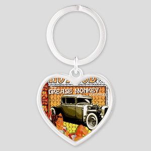 hot rod  tiki show Heart Keychain