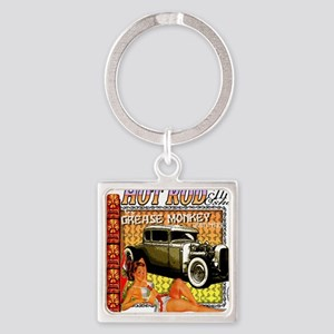 hot rod  tiki show Square Keychain