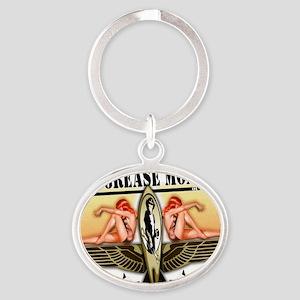 von grease monkey Oval Keychain