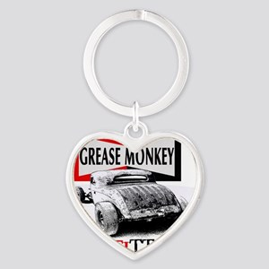 grease monkey equipped-lakester Heart Keychain
