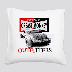 grease monkey equipped-lakest Square Canvas Pillow