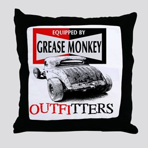 grease monkey equipped-lakester Throw Pillow