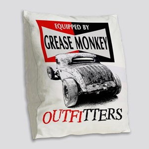 grease monkey equipped-lakeste Burlap Throw Pillow