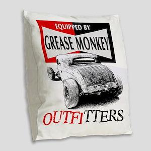 grease monkey equipped-lakeste Burlap Throw Pillow