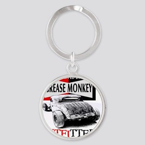 grease monkey equipped-lakester Round Keychain