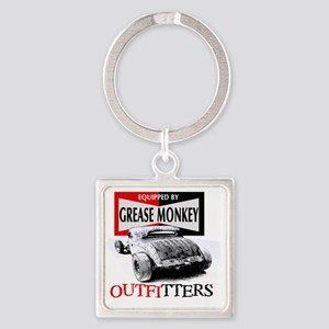 grease monkey equipped-lakester Square Keychain