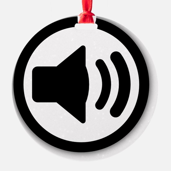 Audio Speaker Black Ornament