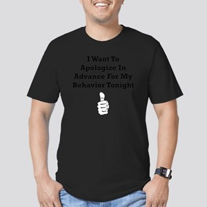 Apologize In Advance B Men's Fitted T-Shirt (dark)
