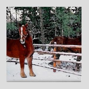 Horses Tile Coaster